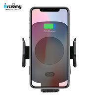 Ascromy Auto Qi Wireless Car Charger Mount Air Vent Automatic Sensor Phone Holder Charging For Samsung Galaxy S9 iPhone X 8 Plus