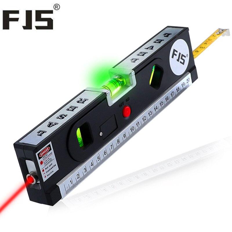 4 In 1 Blister Laser Ebenen Horizon Vertical Maßband Aligner Laser Kennzeichnung Linien Lineal Werkzeug