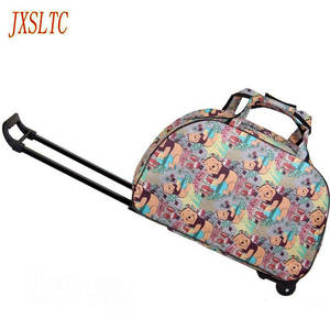 913e15816f JXSLTC Rolling On Suitcases Women Luggage bag organizer