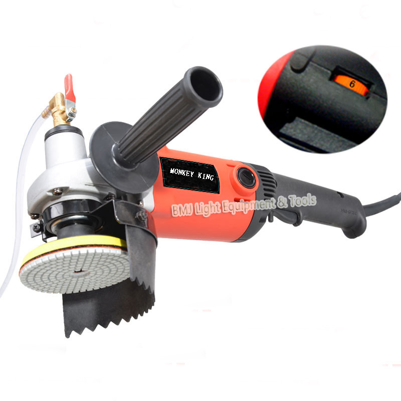 220v 1400W M14 4 inch electricity stone polisher hand grinder water mill variable speed  with 8 units wet polishing pad 120w orbital professional variable speed polisher with terry cloth bonnet