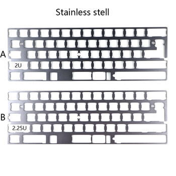 Cool Jazz Aluminum alloy plate dz60 plate for DIY mechanical keyboard Stainless steel plate gh60