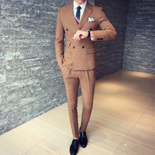 2016 autumn and winter mix match classic double breasted male suit Men Dinner Party Prom Suits Groom Tuxedos Groomsmen Wedding