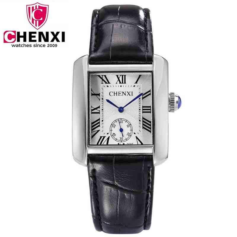 Men Quartz Brand Tag CHENXI Casual Watches Classic Black Leather Couple Watch Fashion Men Women Small Dial Work Watch PENGNATATE