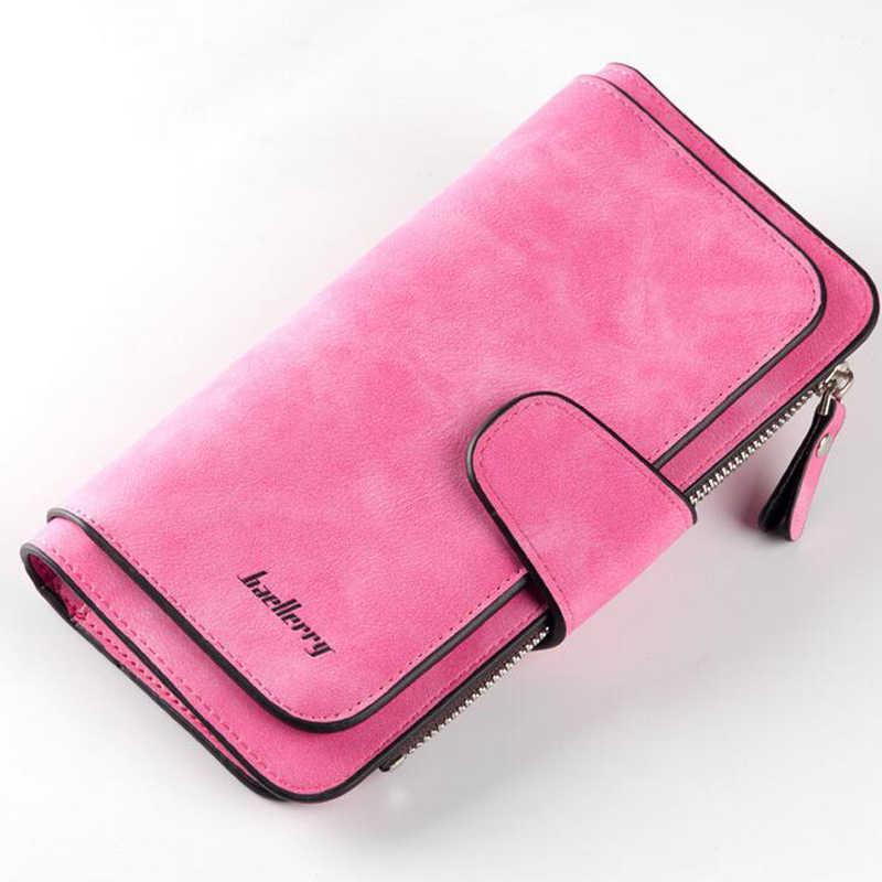 Baellery couro do plutônio das mulheres carteiras moeda bolso ferrolho titular do cartão sacos de dinheiro casuais longas senhoras embreagem telefone carteira
