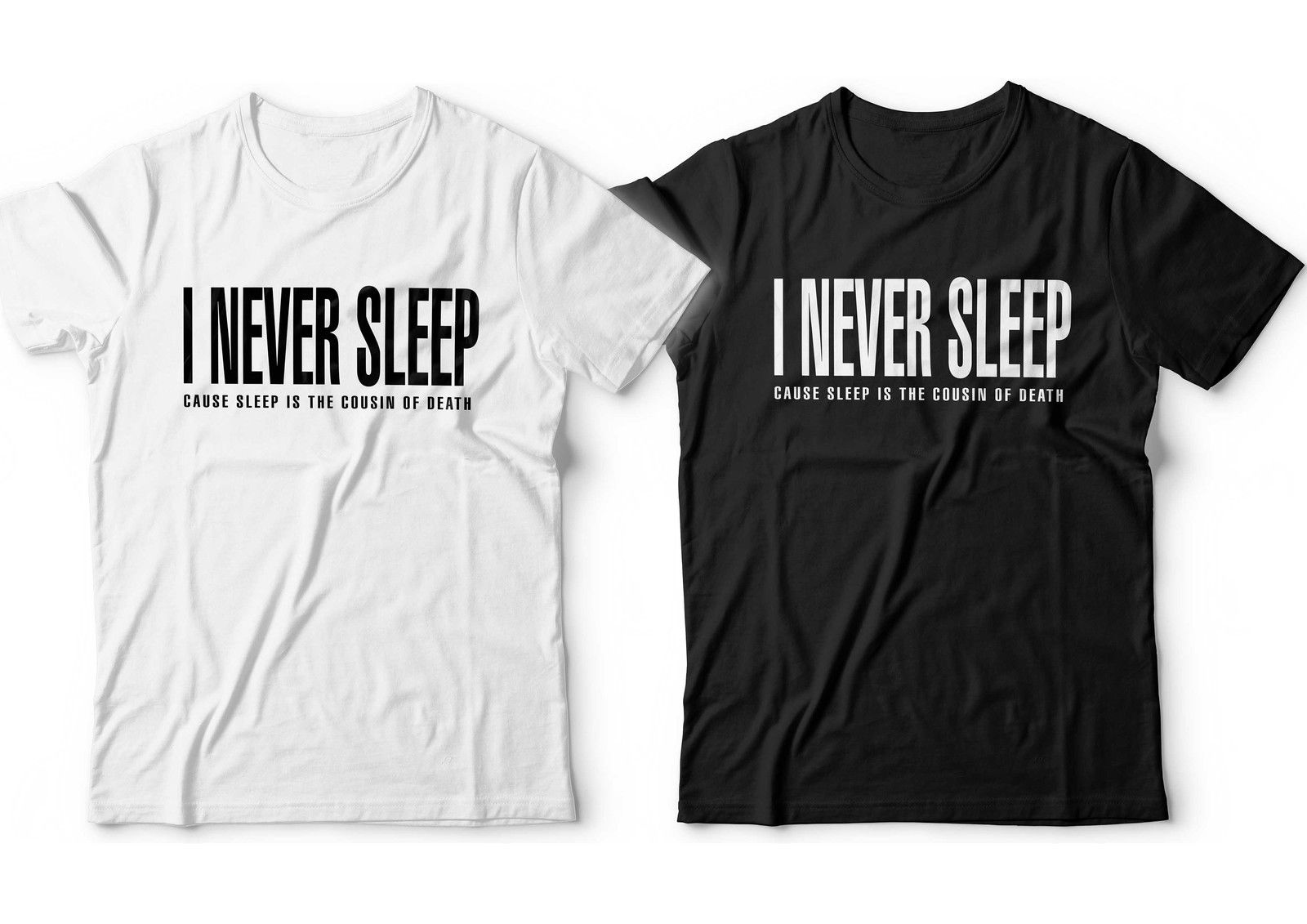 US $11 88 15% OFF|Nas I Never Sleep T shirt NY Illmatic Mens Escobar  Nastradamus Hip Hop T Shirt Cotton Men Short Sleeve Tee Shirts Black  Style-in
