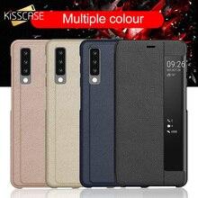 KISSCASE Smart Sleep Flip Case For Samsung Galaxy S10 S9 S8 Plus Window View Note 9 8 A9  A8 A7 J6 J4 Funda