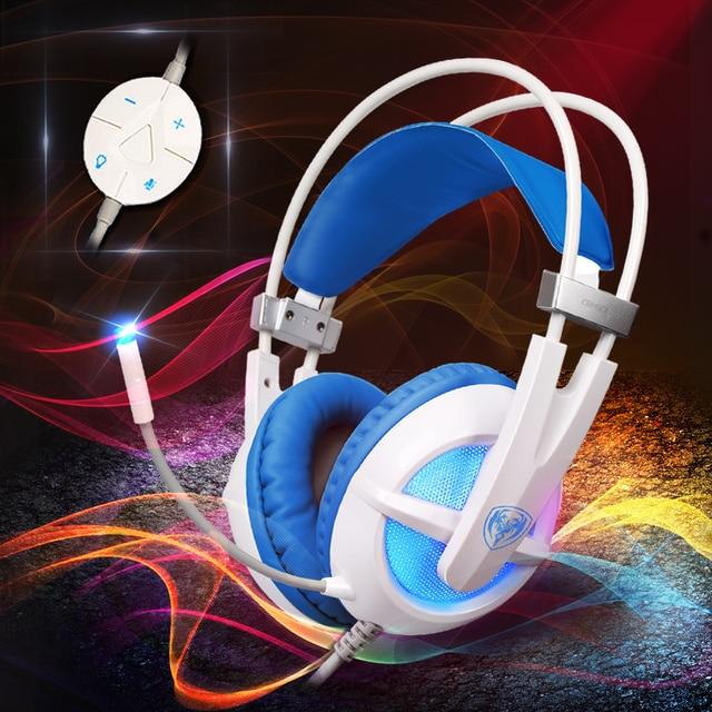 SOMIC G938 Auriculares 7.1 de Sonido Envolvente Virtual USB Gaming Headset con Mic Volume Control para Juegos de PC
