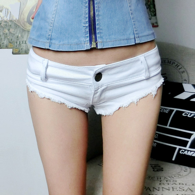 524fd56aad Sexy Mini Club Dress 2016 Summer White ripped womens super short shorts  skinny jeans cintura alta cotton slim women denim shorts