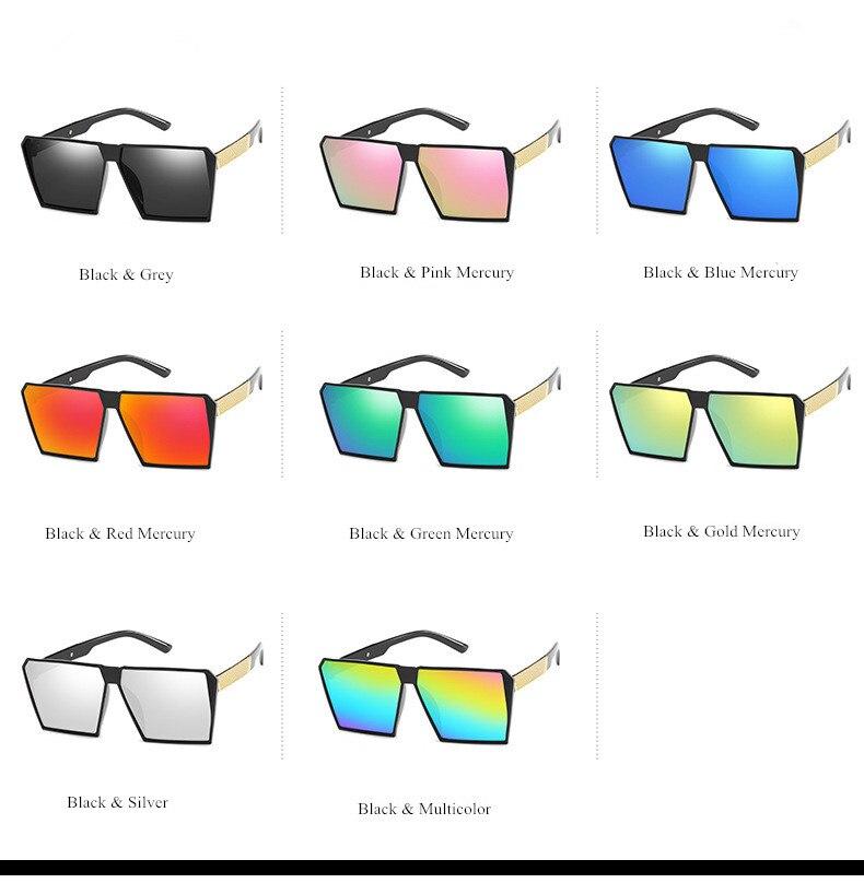 VWKTUUN Sunglasses Men Square Sunglasses Women Driving Mirror Points Black Frame Eyewear Male Female Brand Designer Sun Glasses in Women 39 s Sunglasses from Apparel Accessories