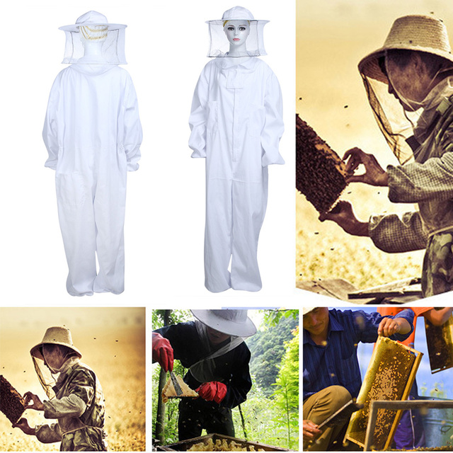 Type Underarm Zippered Hat-Veil Combo Air Through Bee Suit Beekeeper Protection Clothing Suit Beekeeping Clothes