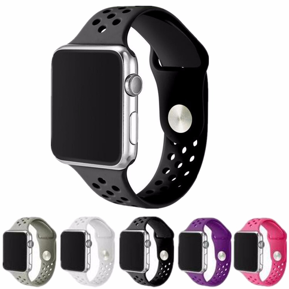 Fasion sport band Strap For Apple Watch Band 42mm/38 Sports Buckle Bracelet Series 12 Wrist band Strap Replacement For NIKE Band