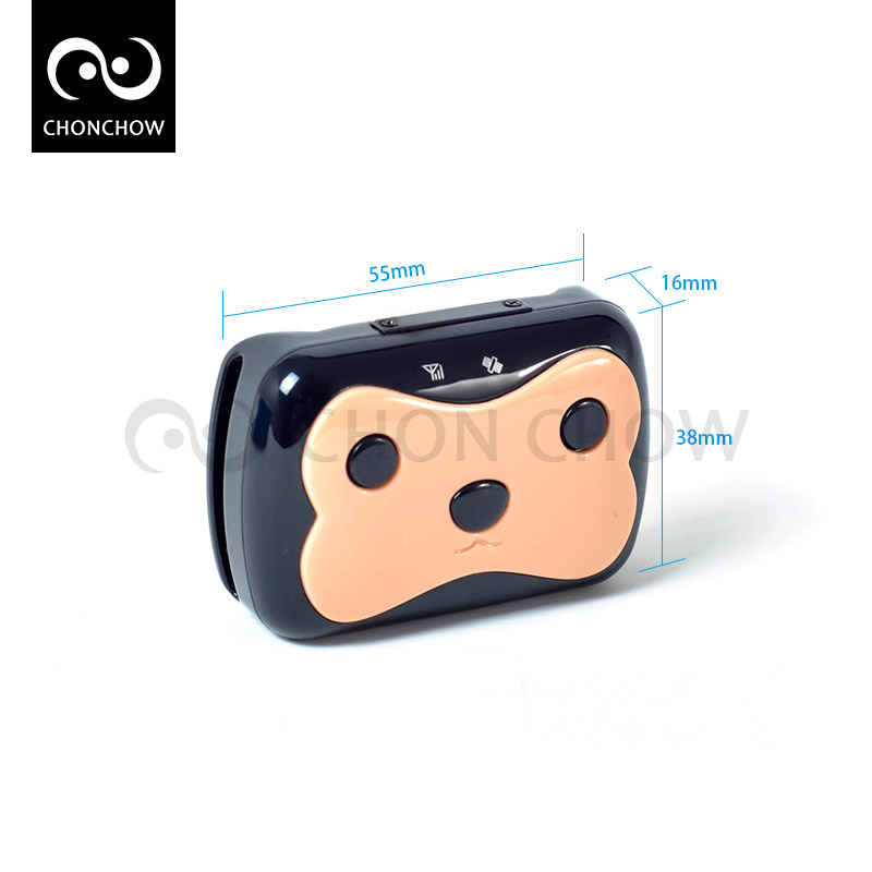Free Shipping Mini Waterproof font b GPS b font Tracker with Collar for Pets Cat Dog