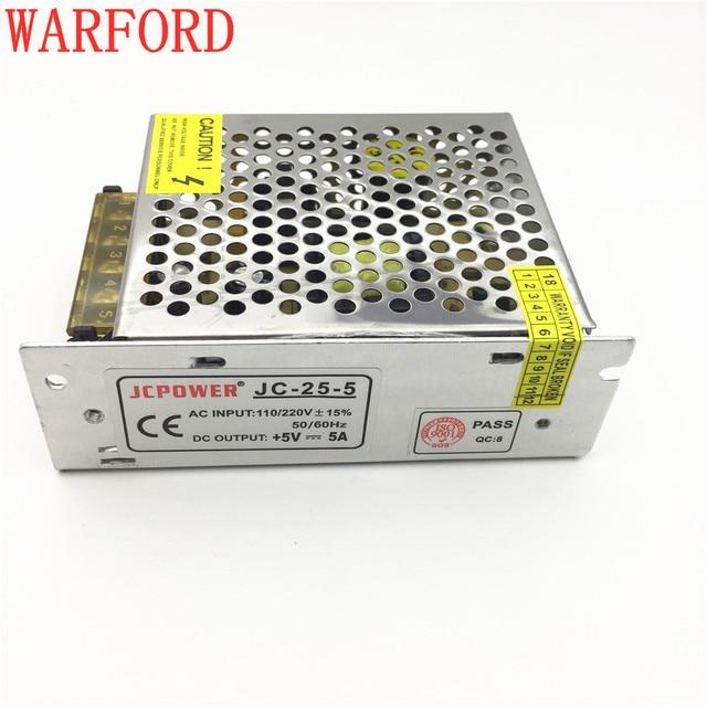 fast shipping whole 5V 5A 25W switch power supply for ws2801/ ws2812b/2812b/lpd8806/apa102 led strip AC110-240