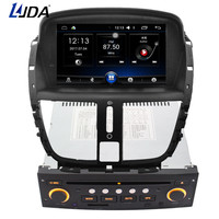 LJDA 1 din 7 Inch Android 6.0 Car DVD Player For Peugeot 207 2007 2014 Radio Audio Bluetooth Canbus GPS Navigation Quad Cores