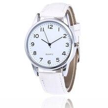Для женщин часы Для мужчин Простой Пара Мода Группа кожа Бизнес Аналоговые кварцевые наручные часы Relogio Masculino