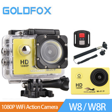 GOLDFOX 1080P Full HD Wifi Wireless Remote Control Sport Camera 30M Go Waterproof Pro Action Camera Bike Helmet mini camera