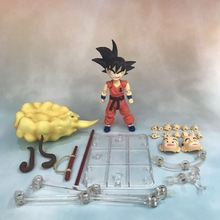 12cm Dragon Ball Z Super Saiyan Goku Flying Somersault Cloud Son Goku PVC Anime Action Figure Model Toys For Children