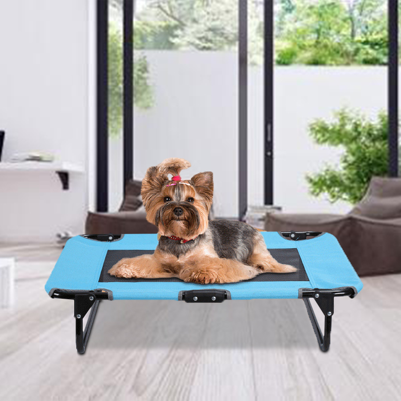 Portable Dog Bed Outdoor Summer Cooling Pet Elevated Bed Cot Foldable Raised Dog Bed for Large