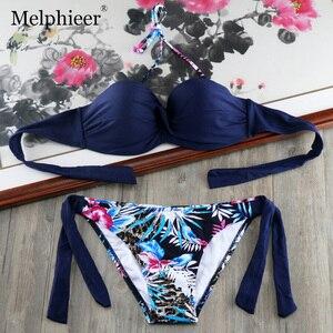Женский купальник-бикини с пуш-ап, летний купальник с завязками, сексуальный бразильский купальник, монокини, купальный костюм, E667, 2019