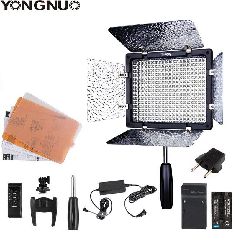 Yongnuo yn300 iii YN-300 iii 3200k-5500 k cri95 câmera foto led luz de vídeo opcional com adaptador de alimentação ca + kit de bateria