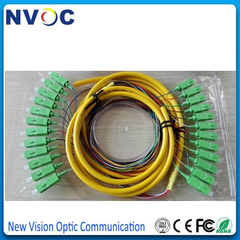 12 Strand OM4 Fiber Optic Pigtails SC//UPC 3M zipcord Cable