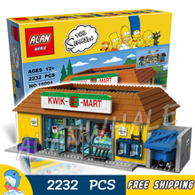2232pcs New Simpsons the Kwik-E-Mart 16004 DIY Model Building Kit Blocks Gifts Children Toys Compatible with Lego