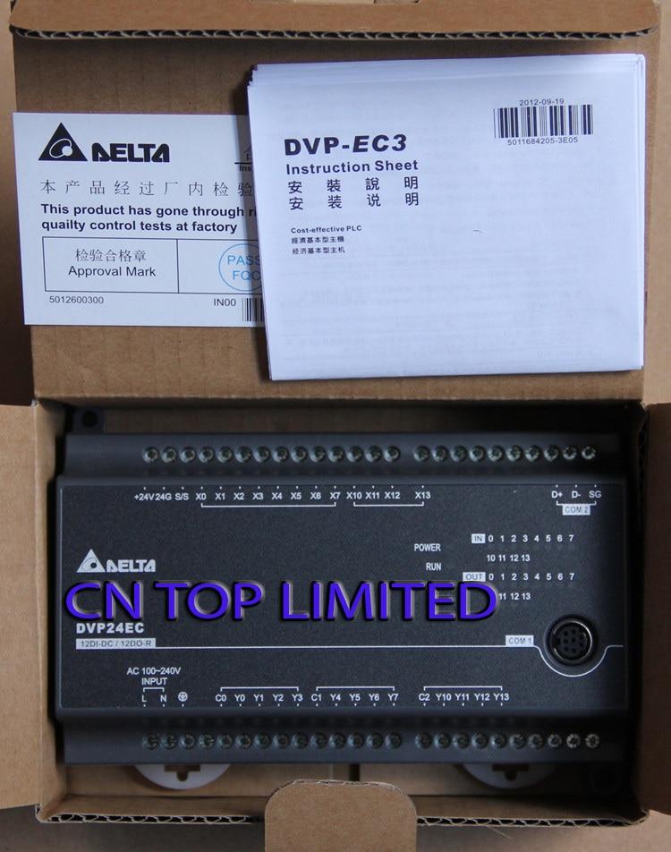 DVP24EC00R3 Delta EC3 Series Standard PLC DI 12 DO 12 Relay 100-240VAC new in box набор bosch дрель аккумуляторная gsb 18 v ec 0 601 9e9 100 адаптер gaa 18v 24