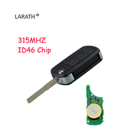 New Uncut Flip Remote Car Key Fob 315MHz ID46 Chip For Land Rover Discovery 3