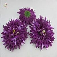 100 unids alta calidad artificial cabeza flores de seda para la decoración casera del banquete de boda guirnalda scrapbooking falso púrpura flores DIY
