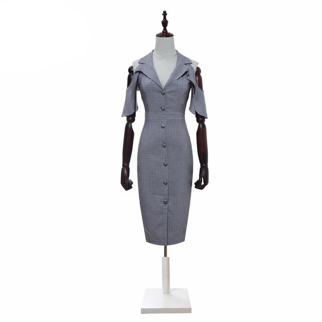 H Han Queen Womens Summer Dresses Sexy Off the shoulde Vestidos Office Women Work Wear Clothes Formal Bodycon Pencil Dress