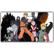 Naruto Poster Bedroom Wall Stickers Decorative Silk Wallpaper (5 styles)