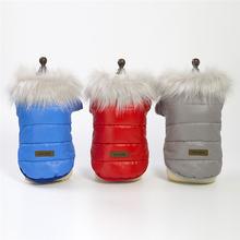 Теплая одежда для собак зимнее пальто домашних животных роскошная