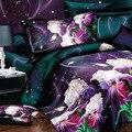 Frete grátis! flor 3d conjunto de cama, 4 pcs set capa de Edredão, lençóis cama em um saco, Incluem: cama folha, folha de capa de edredon fronha