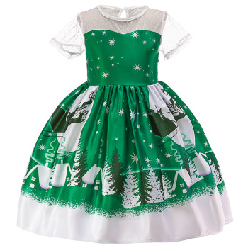 New Christmas Gift For Baby Girl Winter Snowman Dress 3-10 Years Old 1