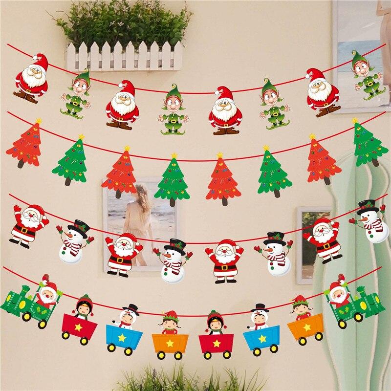Christmas Wall Decorations To Make: 3M Merry Christmas 2018 Banner Wall Hangings Drop