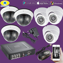 Golden Security 8CH CCTV DVR Home Burglar Security System,720P AHD Camera IR CUT Night Vision 6 CCTV Camera security surveillance dome camera ahd 720p full hd 1 0mp ir cut night vision camera cctv security system home cam free shipping