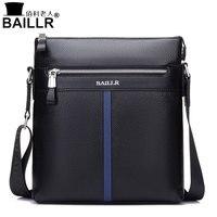 BAILLR 2018 new men's bag men's shoulder bag business casual Messenger bag the first layer of leather leather bag