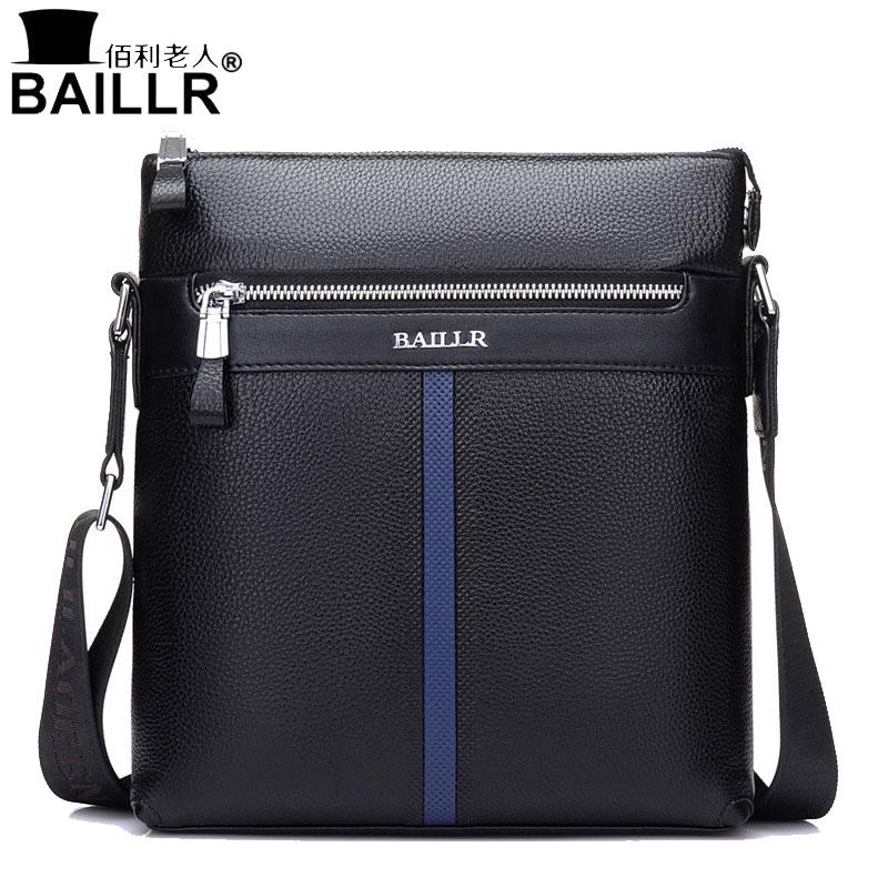 BAILLR 2018 nouveau sac pour hommes sac à bandoulière pour hommes d'affaires sac messager décontracté la première couche de sac en cuir en cuir
