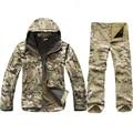 TAD Getriebe Tactical Softshell Camouflage Jacke Set Männer Armee Windjacke Wasserdichte Jagd Kleidung Camo Military Jacke andPants