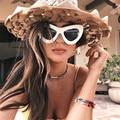 New mulheres óculos anti uv óculos de sol óculos de sol borboleta opala personalidade senhoras óculos da moda para mulher