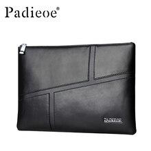 Padieoe Genuine Leather Men Bag Clutches Wallet Business Men Phone Envelope