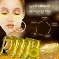 New 24K Gold Eye Mask Golden Crystal Collagen Eye Mask Anti-Dark Circle Moisturizing Hyaluronic Acid Eye Mask Anti-Aging