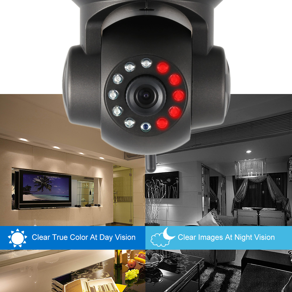 11 Led Night Vision P//T WiFi Wireless IP CAM Home Security PNP Dual Audio Camera