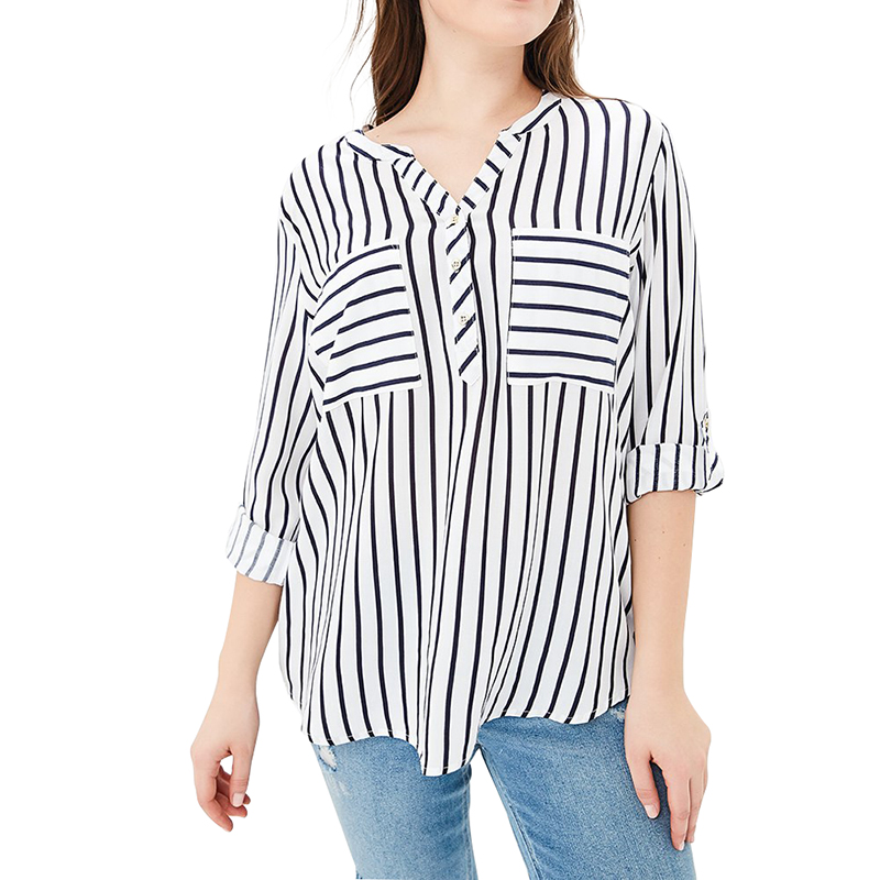 Blouses & Shirts MODIS M181W00511 women blouse shirt  clothes apparel for female TmallFS