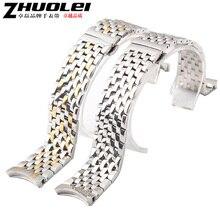 Accesorios del reloj nuevo Metal plateado correas de reloj brazaletes correa 20 mm