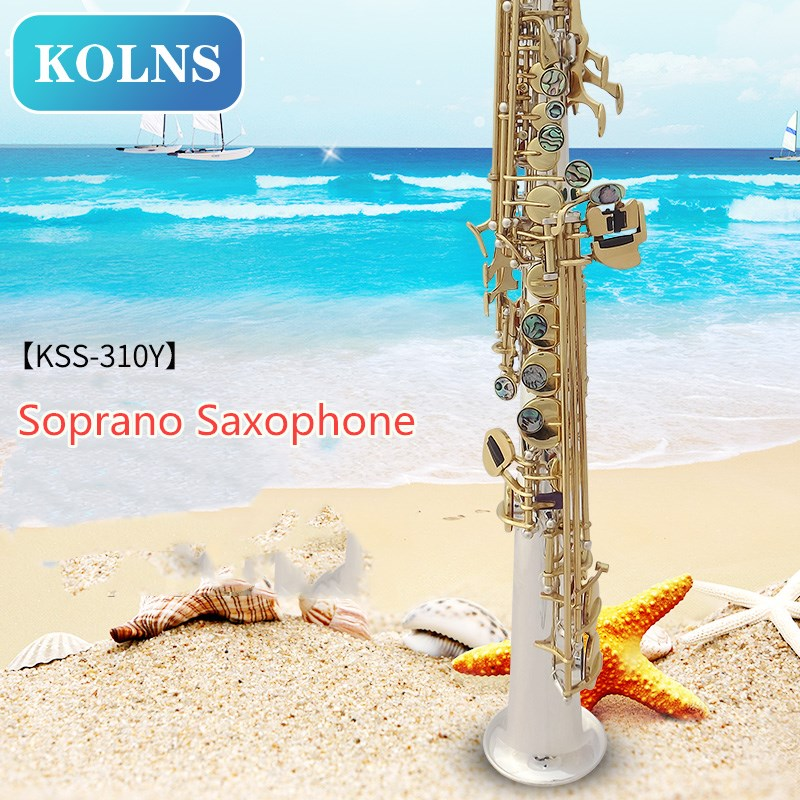 Professional kolns B(B) Soprano Saxophone Musical Instruments Sax Brass Silver-plated With Case,Mouthpiece new soprano saxophone b flat playing professionally yss 475 soprano musical instruments soprano sax professional free shipping