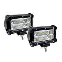 2PCS 5 Inch 12V 72W LED Work Light Bar 10800LM High Lumens Work Lamp Spotlight For