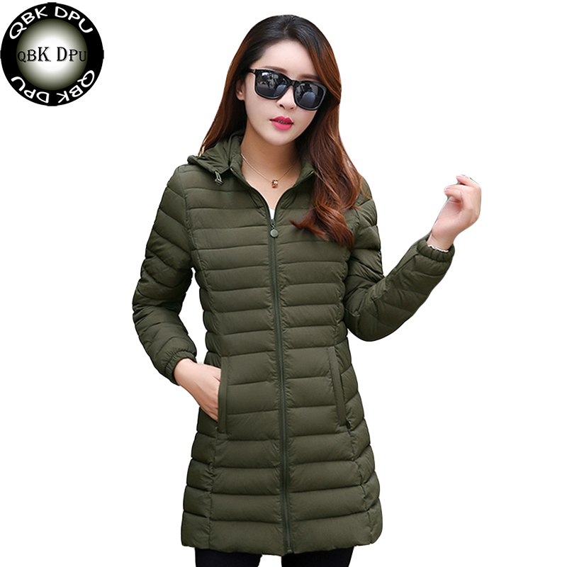 Fashion Women Warm Winter Cotton Jacket Women 2018 Hot Sell Ladies Casual Hooded Long   Parkas   Womens Slim Waist Quilted Coat