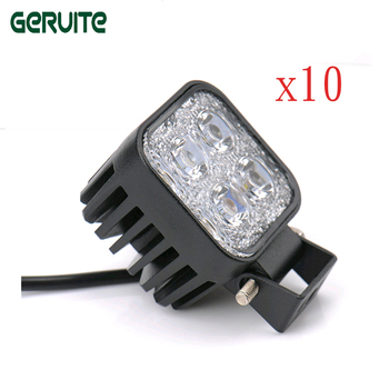 10Pcs 12W LED Car Working Light Bar for Off Road Indicators Work Driving Offroad Boat Vehicle Truck SUV Motercycle