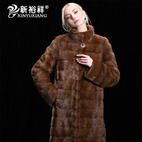 Fashion Women`s Real Mink Fur Coats Thick Warm Customizable Winter Fur jacket Outwear Parka For Female Girl's Genuine Fur Coat